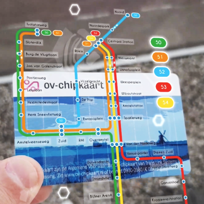 AR OV-chipkaart Demo – Amsterdam Metro Map
