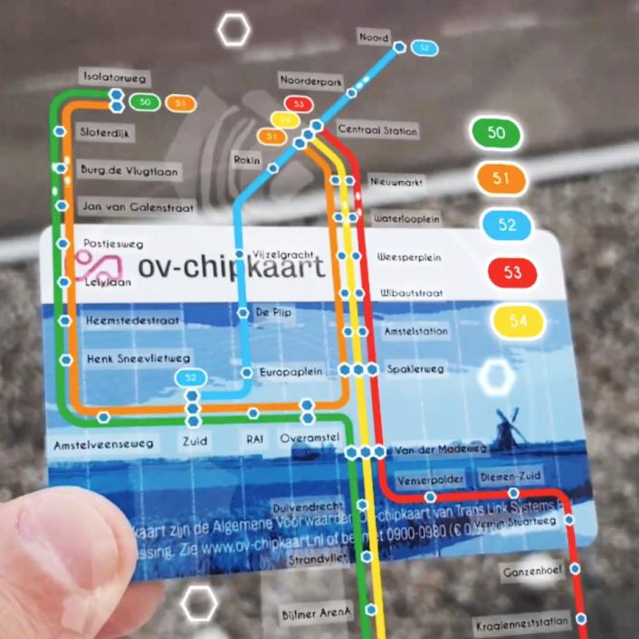 AR OV-chipkaart Demo – Amsterdam Metro Map